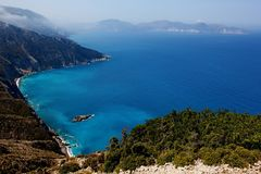 View of coasts at kefalonia island Stock Photos