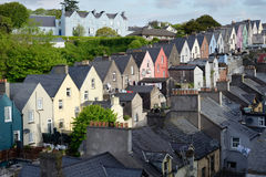 View of a cobh town street. In county cork ireland from the catherdral Royalty Free Stock Image