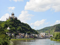 View of Cochem on Moselle river, Germany Royalty Free Stock Images