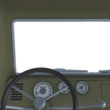 View of a cockpit of a pickup Royalty Free Stock Photo