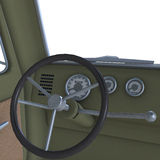 View of a cockpit of a pickup Stock Images