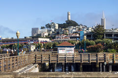 View on Coit Tower from San Francisco Bay Area Stock Photos
