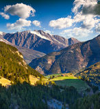 View from the Col d'Isoard Pass, Alps Stock Image