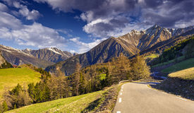 View from the Col d'Isoard Pass Royalty Free Stock Images