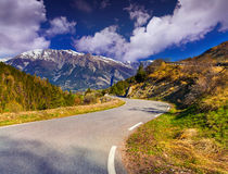 View from the Col d'Isoard Pass Royalty Free Stock Photos