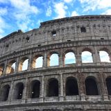 View of Coliseum. Rome, Italy Royalty Free Stock Photography