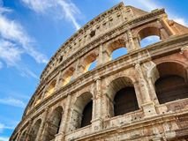 View of the Coliseum in Rome Italy royalty free stock photo