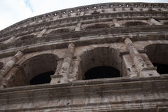 View of the coliseum in Rome. Coliseum seen from below, in Rome Royalty Free Stock Image