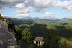 View from Collalto Sabino. In the province of Rieti, Italy Royalty Free Stock Photography