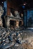 Collapsed Boilers - Abandoned Old Taylor Distillery - Kentucky. A view of collapsed boilers at the formerly abandoned Old Taylor Distillery near Frankfort stock image