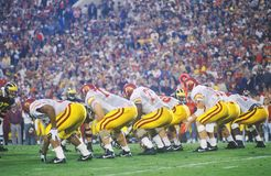 View of College Football game, Rose Bowl, Los Angeles, CA Royalty Free Stock Photos