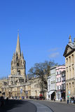 View of colleges along High Street, Oxford. Royalty Free Stock Image