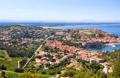 View Of Collioure, Languedoc-Roussillon, France, french catalan coast. View Of Collioure, Languedoc-Roussillon, France Royalty Free Stock Image