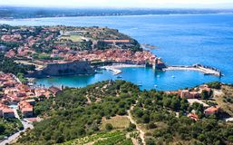 View Of Collioure, Languedoc-Roussillon, France, french catalan coast. View Of Collioure, Languedoc-Roussillon, France Stock Image
