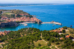 View Of Collioure, Languedoc-Roussillon, France, french catalan coast. View Of Collioure, Languedoc-Roussillon, France Stock Photos