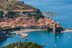 View Of Collioure, Languedoc-Roussillon, France, french catalan coast. View Of Collioure, Languedoc-Roussillon, France Royalty Free Stock Images