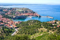 View Of Collioure, Languedoc-Roussillon, France, french catalan coast. View Of Collioure, Languedoc-Roussillon, France Royalty Free Stock Photography