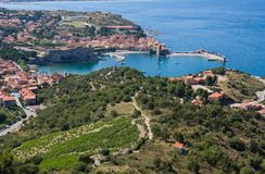 View Of Collioure. Languedoc-Roussillon, France, french catalan coast. View Of Collioure, Languedoc-Roussillon, France, french catalan coast Royalty Free Stock Photos