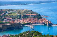 View Of Collioure. Languedoc-Roussillon, France, french catalan coast. View Of Collioure, Languedoc-Roussillon, France, french catalan coast Royalty Free Stock Image