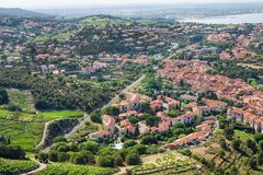 View Of Collioure, Languedoc-Roussillon, France, french catalan coast. View Of Collioure, Languedoc-Roussillon, France Stock Images