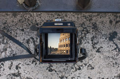 View of Colliseum Stock Photography