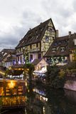 View of Colmar in Christmas time royalty free stock images
