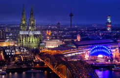 View of Cologne Cathedral in Cologne Royalty Free Stock Photography