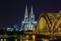 View of Cologne Cathedral, Germany Royalty Free Stock Photos