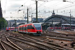 View of Cologne Central Train Station Royalty Free Stock Images