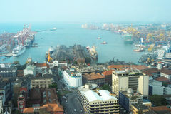 View on Colombo harbor Stock Image