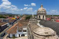 View of the colonial city of Granada in Nicaragua, Central America Stock Images