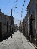 View of the colonial downtown, Arequipa, Peru. View of the colonial downtown, on July 20, 2015 in Arequipa, Peru stock photos