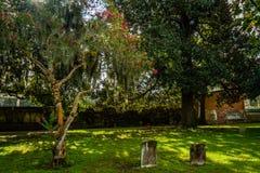 Daytime cemetery view stock photos