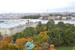 View from the colonnade of Isaac Cathedral. Saint-Petersburg. Royalty Free Stock Photo