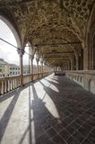 View of the colonnade. Of the Palazzo della Ragione Royalty Free Stock Images