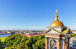 View from the colonnade of St. Isaac's Cathedral in Saint Peters Stock Photography