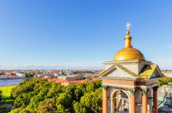 View from the colonnade of St. Isaac's Cathedral in Saint Peters Royalty Free Stock Images