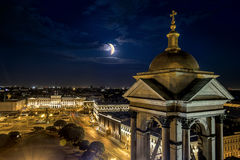 View from the Colonnade of St Isaac's Cathedral in St. Petersbur Royalty Free Stock Image