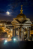 View from the Colonnade of St Isaac's Cathedral in St. Petersbur Stock Photography