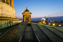 View from the Colonnade of St Isaac's Cathedral in St. Petersbur Royalty Free Stock Photo