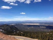 View of Colorado from pikes peak royalty free stock photography