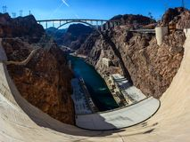 View of Colorado River Bridge from the Hoover Dam. In Nevada, USA Stock Images