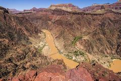 View on Colorado River inside Grand Canyon Royalty Free Stock Photo