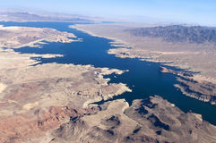 View of the Colorado River and Lake Mead Stock Images