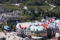 View on the  colored buildings and vacation park Royalty Free Stock Photos