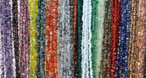 View of colored stones on a chain Royalty Free Stock Photo