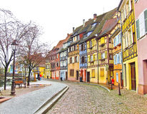View of colorful buildings in Colmar, France. Royalty Free Stock Photos