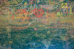 View of colorful chalkboard Stock Photography