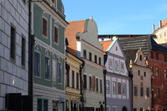 View of colorful houses in Cesky Krumlov Stock Photos