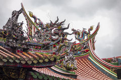 Temple Roof With Clouds Royalty Free Stock Photo